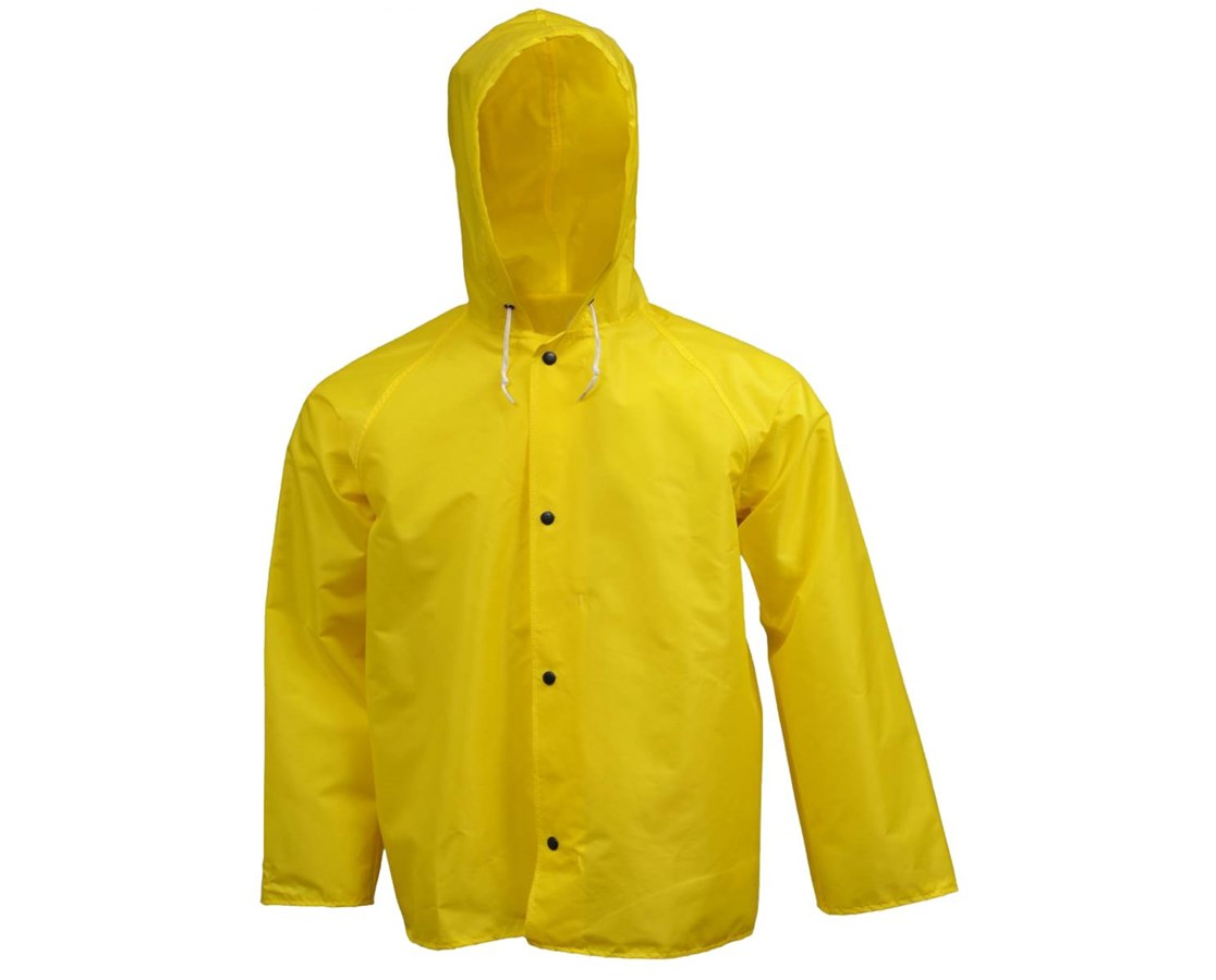 Breathable Yellow Jacket Storm Fly Front and Attached Hood TINJ21107