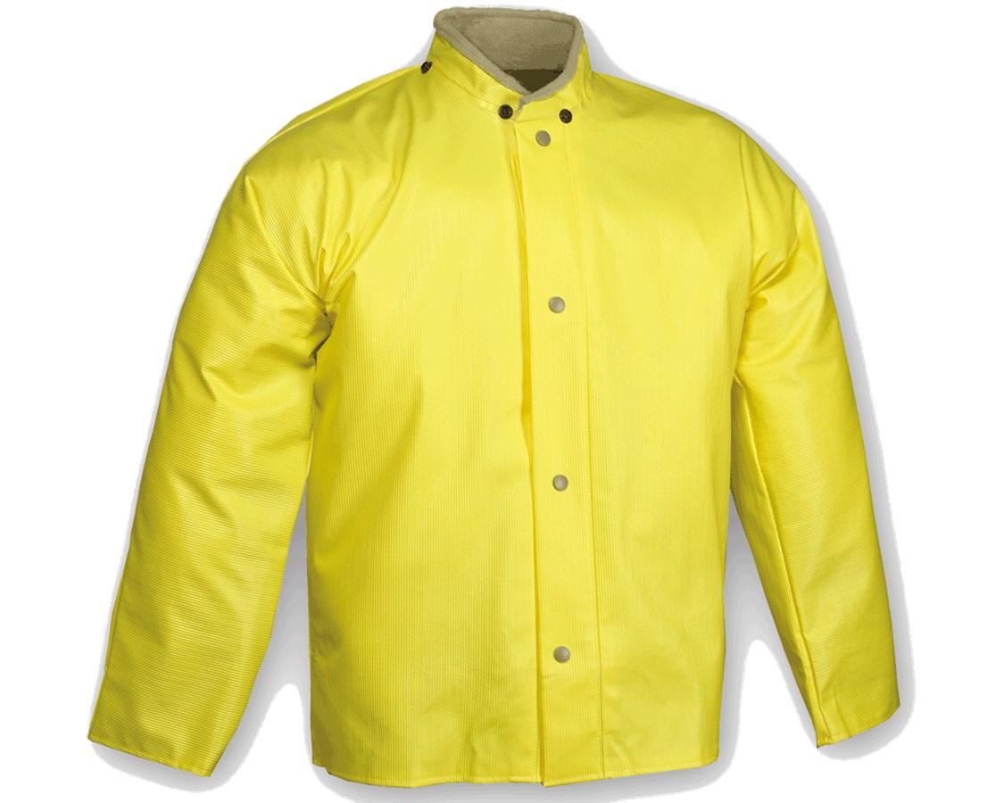 Waterproof Yellow Jacket with Hood Snaps J31207