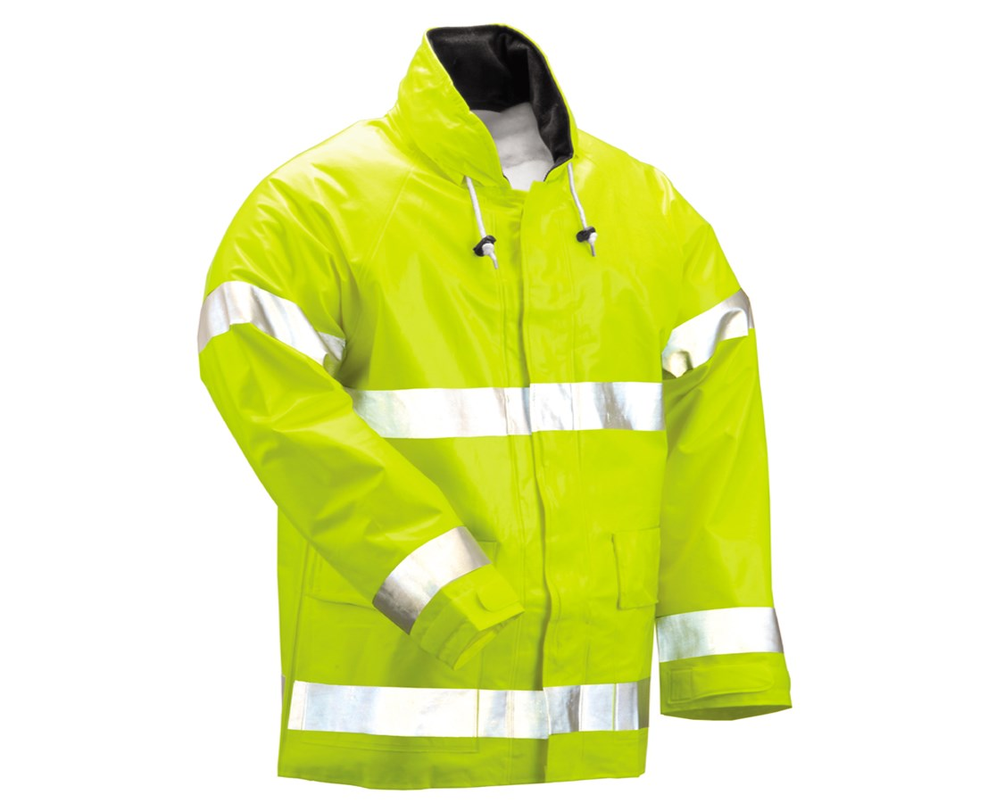Flame Resistant Fluorescent Yellow Green Tall Jacket