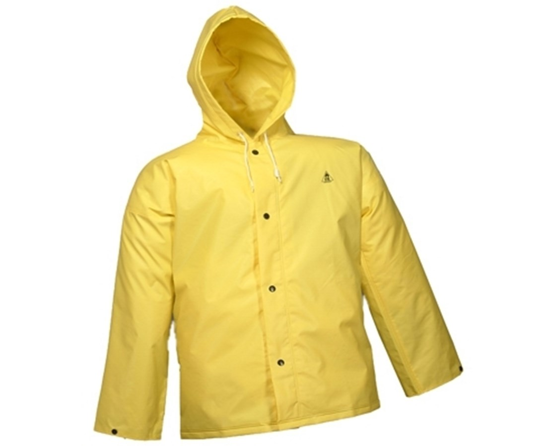 Flame Resistant Yellow Jacket Storm Fly Front and Attached Hood TINJ56107