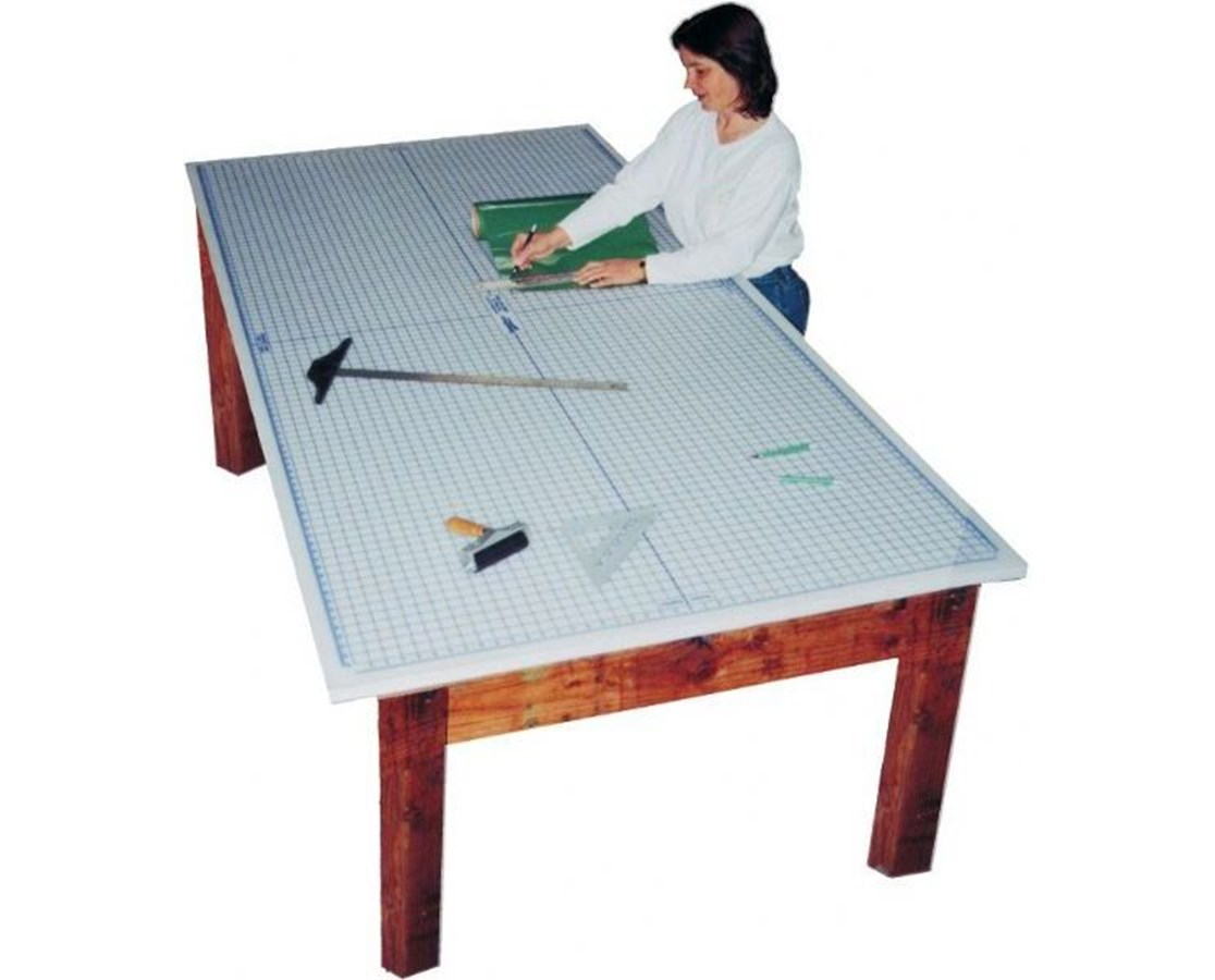 Super Size Protective Mats With imprinted grid undermat TMG48960