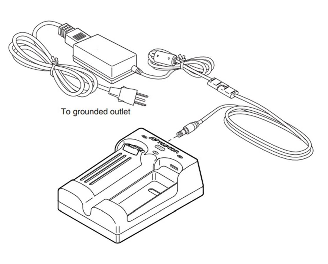 Topcon GR-5 GR3/GR5 Dual Slot Battery Recharger TOP01-050911-01