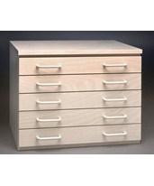SMI 5 Drawer Birch Flat File 12 x 18 1218-5DB