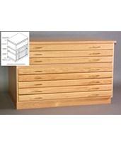 SMI 5 Drawer Oak Flat File 24 x 36 F2436-5D