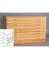 SMI 3 Drawer Oak Flat File 30 x 42 F3042-3D