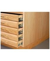 SMI 5 Drawer Oak Flat File with Steel Glides 30 x 42 F3042-5D-SDG