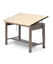 Mayline Ranger Steel Four-Post Drafting Table No drawers 7732