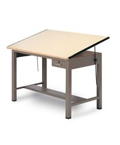 Mayline Ranger Steel Four-Post Drafting Table With tool drawer 7732A