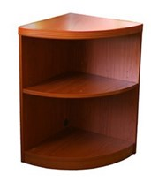 Mayline Aberdeen Series Quarter Round 2-Shelf Bookcase ABQ2