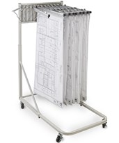Adir Vertical File Rolling Stand w/12 Brackets 613