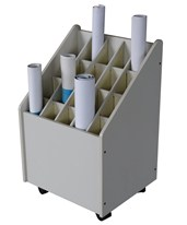 Adir Mobile Wood Roll File 20 Tube 624