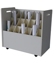Adir Mobile Wood Roll File 21 Tube 625