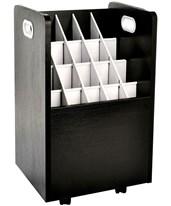 Adir Mobile Wood Roll File 624