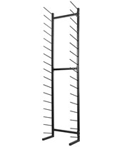 AdirOffice Standing Blueprint Storage Steel Rack 692-01-BLK