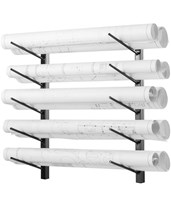 AdirOffice Wall Mount Blueprint Steel Rack 692-36-BLK
