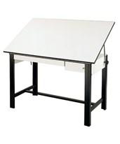 Alvin DesignMaster Black Base Drafting Table with Drawers DM60CT-BK