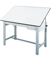 Alvin DesignMaster Gray Base Drafting Table with Drawers DM60CT