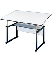 Alvin WorkMaster Black Base Drafting Table WM48-3-XB