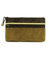 Alvin Dual Zippered Pocket Fabric Mesh Bag EBDZ59