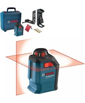 Bosch GLL 2-20 Self-leveling 65' Cross-Line Laser with 360° Horizontal Plane 0601063J10