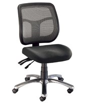 Alvin Argentum Mesh Back Chair CH728-45