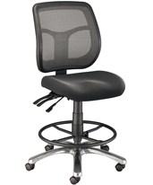 ALVIN Argentum Mesh Back Drafting Chair CH728-45DH