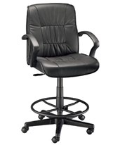 Alvin Art Director Executive Leather Drafting Chair CH777-90DH