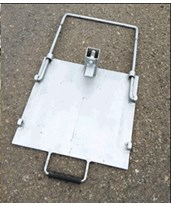 Eastern Metal Flasher Sign Stand Steel Base 072-QUICKBASE48