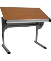 Adjustable Drawing and Drafting Table with Pewter Frame [NAN-JN-2433-GG] NAN-JN-2433-GG