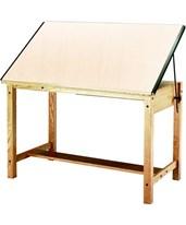 Mayline Ranger Drafting Table Unfinished Oak 7706