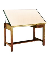 Mayline Ranger Drafting Table with Tool Drawer Golden Oak 7706A