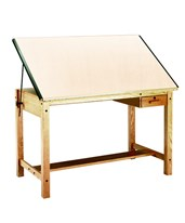 Mayline Ranger Drafting Table with Tool Drawer Natural Oak 7706A