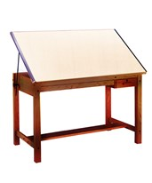 Mayline Ranger Drafting Table with 2 Drawers Golden Oak 7706B