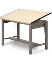 Mayline Ranger Steel Four-Post Drafting Table 7732