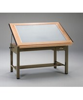 Mayline Ranger Four Post Light Table 7734BLT