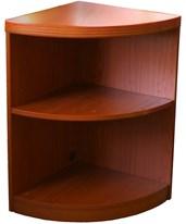 Mayline Aberdeen Series Two-Shelf Quarter Round Bookcase ABQ2
