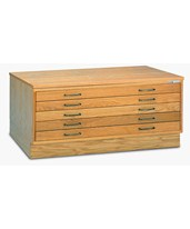 Mayline 5 Drawer Wood Flat File 30 x 42 7718C