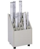 Safco Mobile 20-Compartment Roll File 3082
