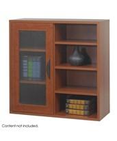 Combined Single Door and Open Adjustable Shelf Bookcase 9444