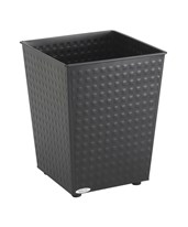 Safco Checks Wastebasket, 6 Gallons (Qty. 3) 9733BL