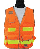 Seco 8069-Series Class 2 Surveyors Utility Vest with Mesh Back 8069