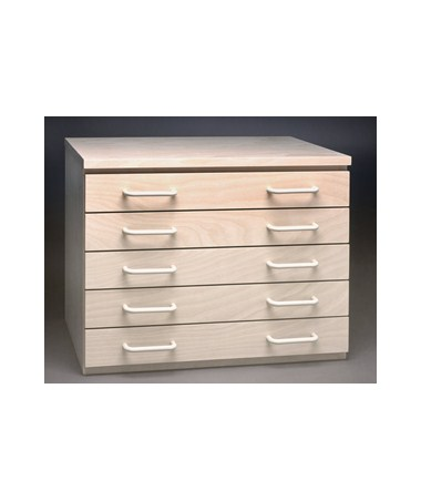 SMI 5 Drawer Birch Plan File for 12 x 18 Sheets 1218-5DB