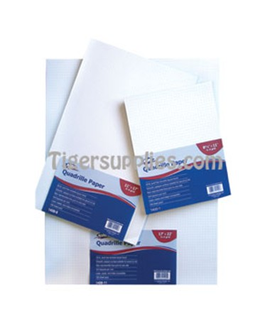 Alvin Qoadrille Paper 10 x 10 Grid  100 Sheet Package 1430-50