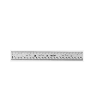 RULER STD. STAINLESS STEEL 6IN 1506