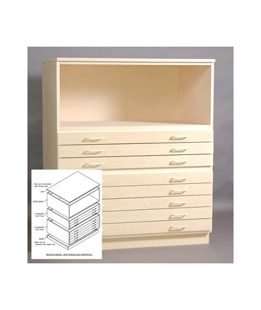 SMI Birch Bookshelf for 18 x 24 Plan File 1824-SB