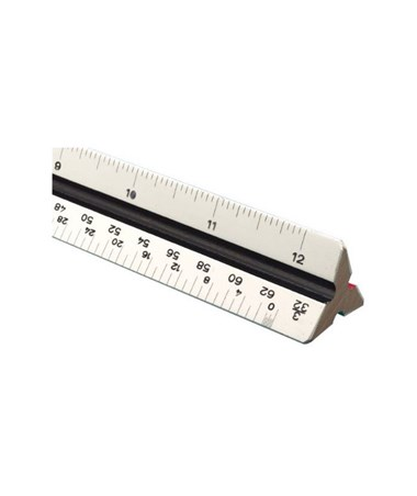 Bamboo Professional Triangular Scales Architect and Engineer 2400B