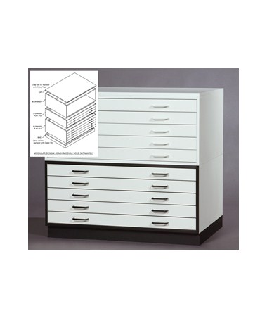 SMI 5 Drawer Melamine Plan File 24in x 36in 2436 5DM