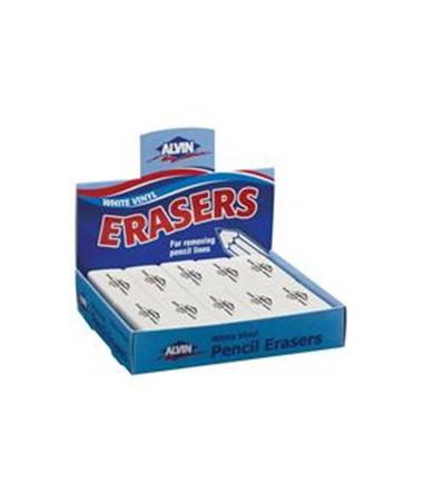 ALVIN® Softie White Velvet Erasers (20/bx) 2521AE