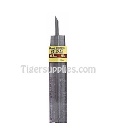 PENTEL LEADS, 0.3MM 12/TUBE 4H 300-3-4H