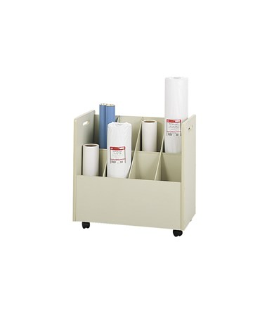 Safco Mobile Upright Wood Roll File 3045